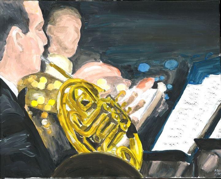 Horn Player - Al's Art