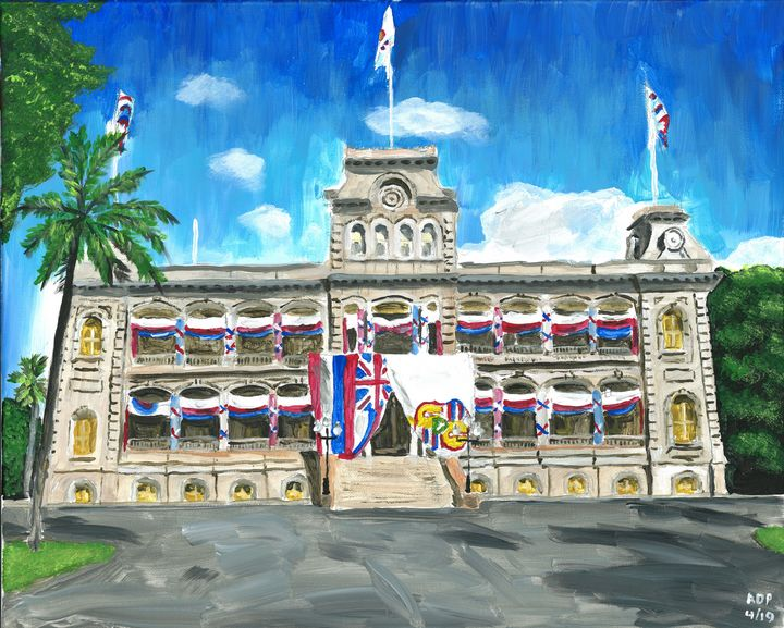 Iolani Palace, Honolulu - Alan's Art