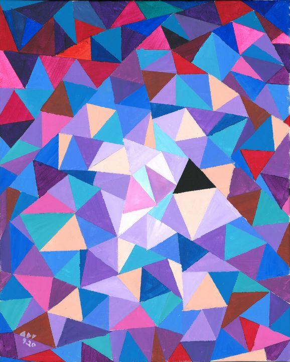 Joseph Triangles 1: The Purple Wall - Alan's Art