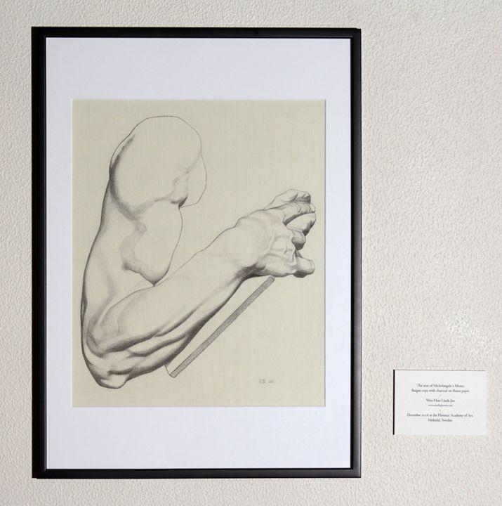 The arm of Michelangelo's Moses - Linda Jen