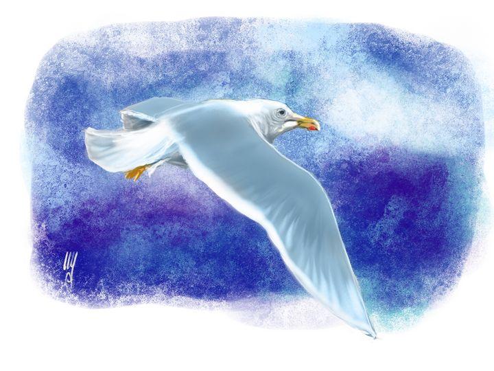 A Glaucous Gull - Artmagenta