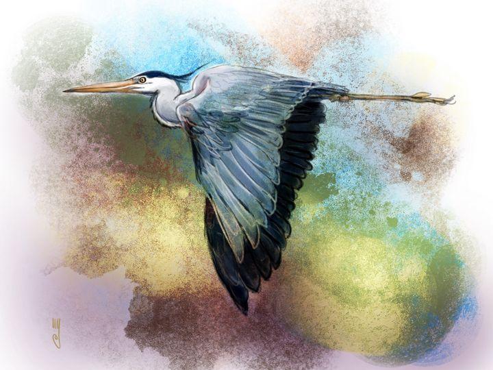 The Great Blue Heron - Artmagenta