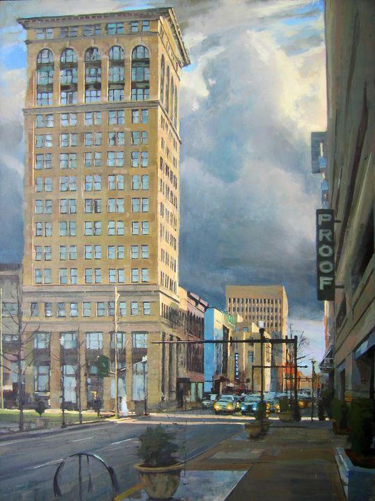 Lexington, Main St, Impending Storm - Mark Ratzlaff