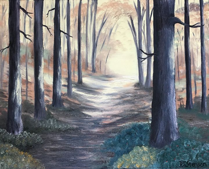 Sunlit Autumn Path - DJ Stenson