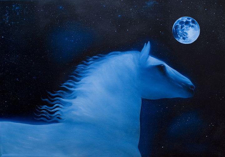 Blue Horse - Art of Nebojsa Pejic