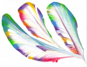 Mystical prayer feathers - Spirit