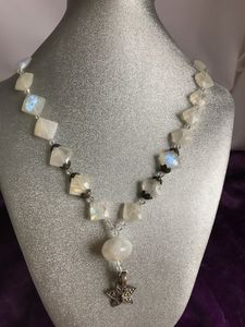 faceted Moonstone & Marcasite