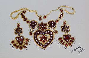 Necklace in Hearts