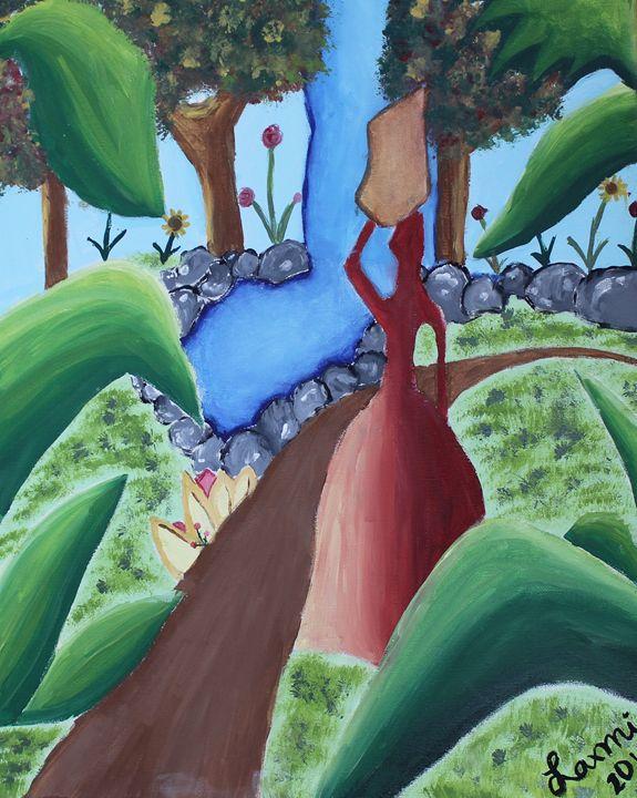 Girl in Garden - Laxmi M