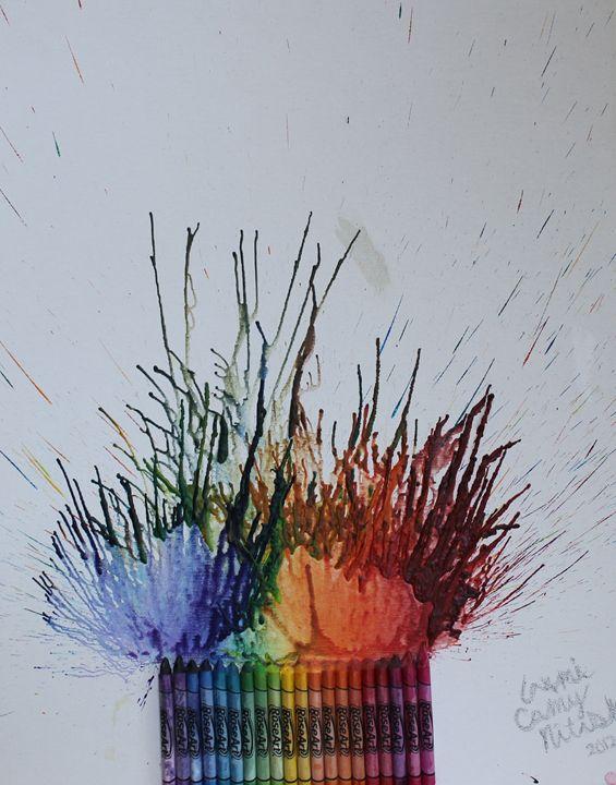 Crayon Flower Vase - Laxmi M