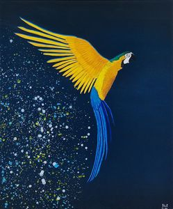 Acrylic Painting - Blue & Gold Macaw