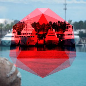Red Abstract Boats