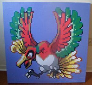 16-bit Ho-oh Pokemon Acrylic