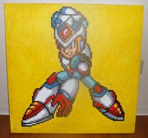 16-bit Megaman X Acrylic Painting