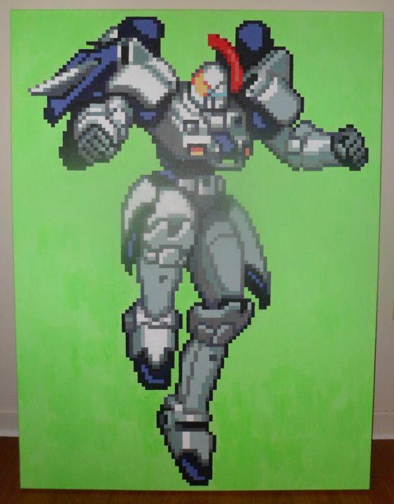 16-bit Tallgeese Gundam - Ryan's 8-bit Nintendo-inspired art