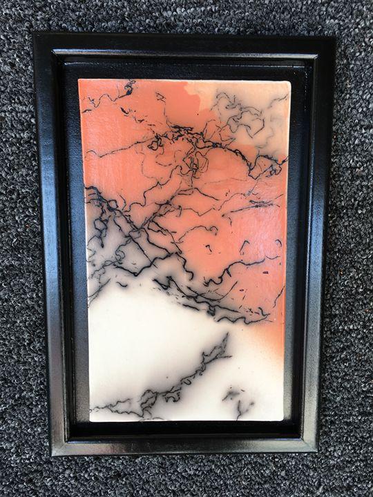 Horsehair Raku Plaque - It's a Steele Ceramics