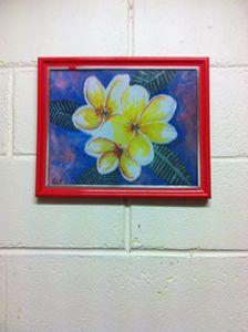Frangipani flowers - Ros Patterson