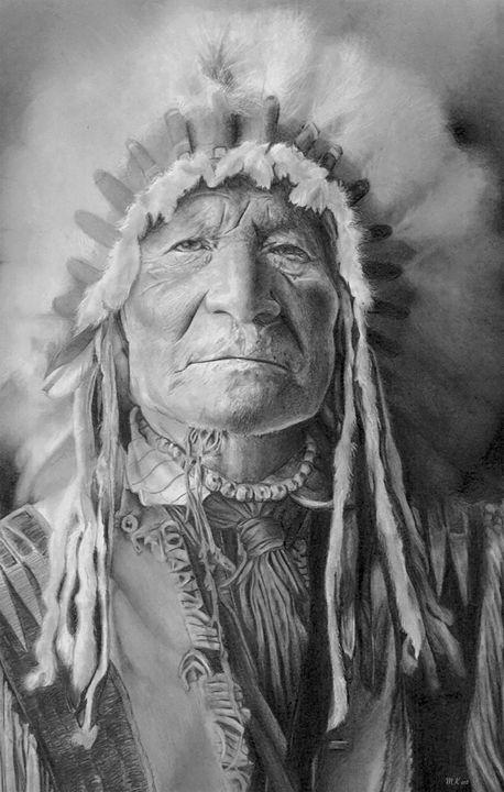 Portrait of a Native American - Makaia Art
