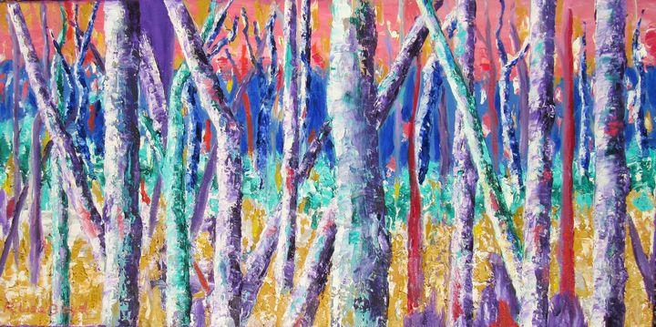 Silver Birch Sunset - Lisa Boyd
