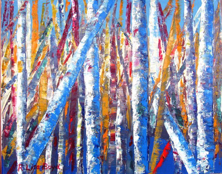 Birch Tree Landscape - Lisa Boyd