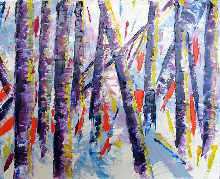Red Pepper Birches - Lisa Boyd