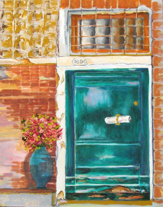 Painting Venetian Door - Lisa Boyd