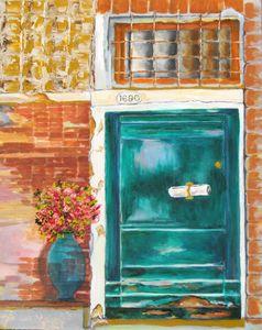 Painting Venetian Door
