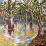 Painting, Water, Park,