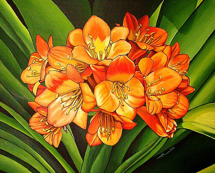 The orange flowers - Jean-Luc Bernard