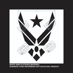 Air Force -Reusable Stencil - That Artist