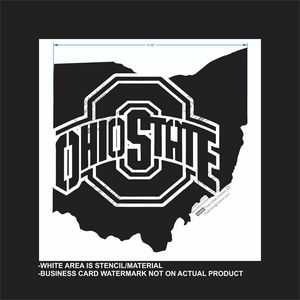 Ohio State - Reusable Stencil - That Artist