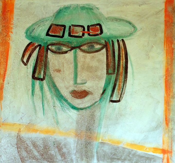 women with hat - AviArt