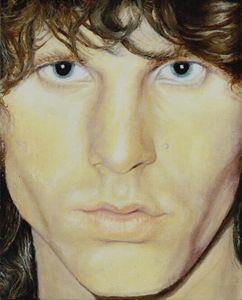 Jim Morrison OIL The Lizard King