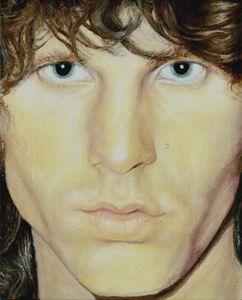Jim Morrison OIL The Lizard King