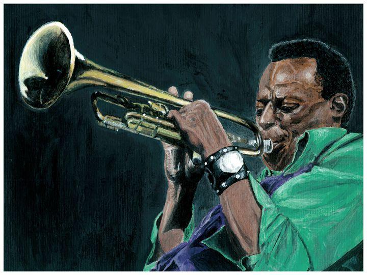 Miles Davis Acrylic - JT Simmonds