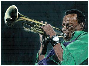Miles Davis Acrylic