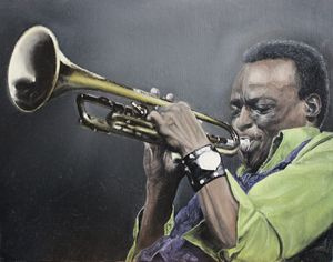 Miles Davis Original Oil Painting