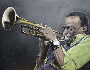 Miles Davis Original Oil Painting