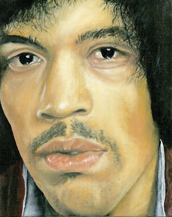 Jimi Hendrix OIL Purple Haze - JT Simmonds