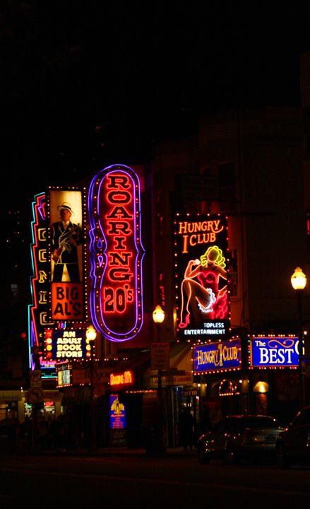 Broadway St. San Francisco @ Night - JT Simmonds