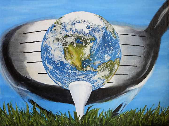 EARTH TEED UP! 12X16 OIL CANVAS - JT Simmonds