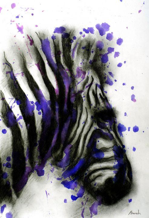 Charcoal zebra - Atelier Jean-Henri Jonquiere