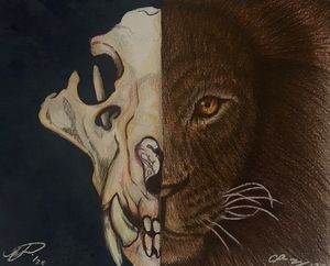 Within a lion