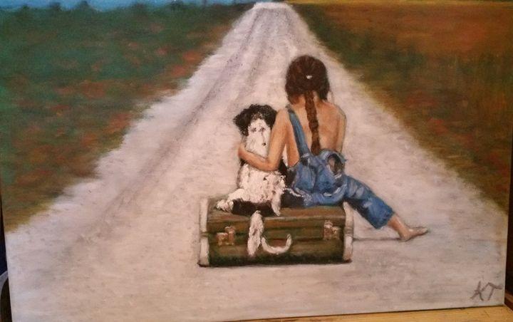 On the road - Vintage paintings by Kaytee
