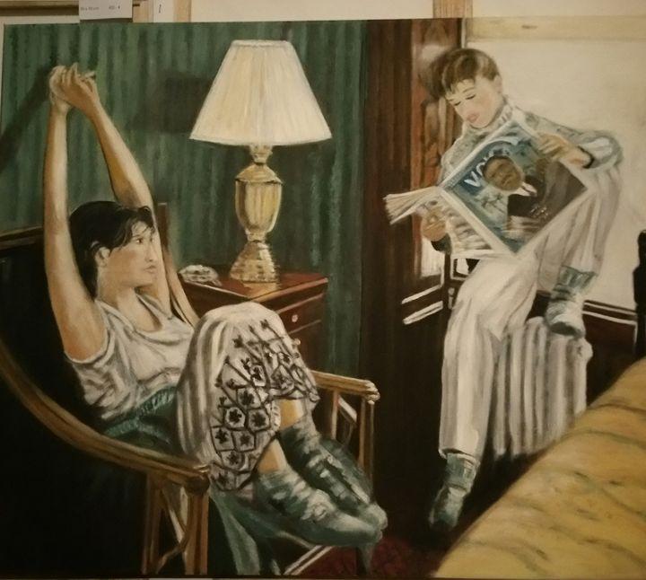 Home, sweet home! - Vintage paintings by Kaytee