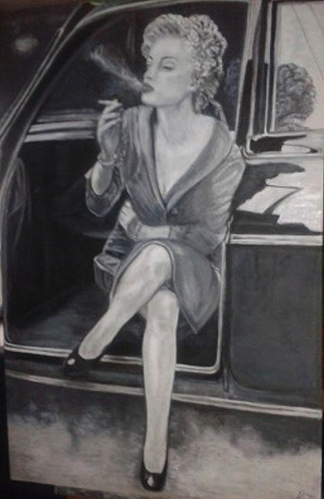 I'm not Marilyn - Vintage paintings by Kaytee