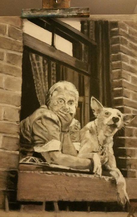 The windowsill - Vintage paintings by Kaytee
