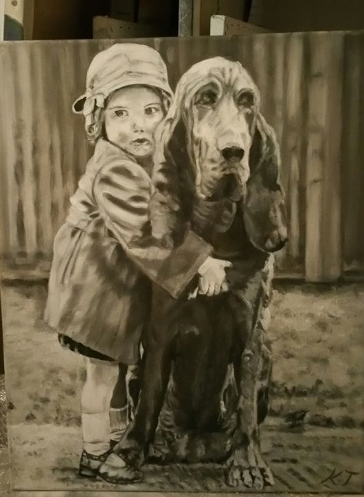 girls best friend - Vintage paintings by Kaytee