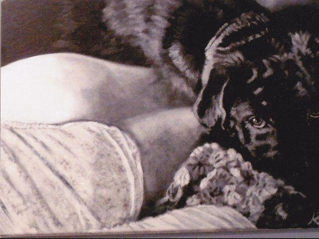 Mine! - Meiner! - Vintage paintings by Kaytee