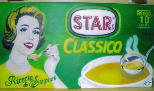 che sapore! - what a taste! - Vintage paintings by Kaytee